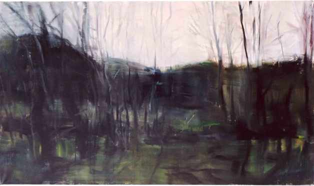 77x130-cm, 2004, hiljaisuus, tystnad, silence, öljy kankaalle, olja på duk, oil on canvas